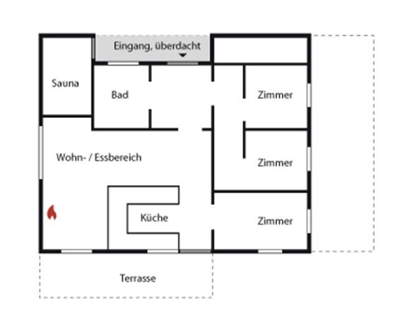 ferienhaus 100 meter vom meer in l kken. Black Bedroom Furniture Sets. Home Design Ideas