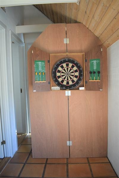 Dartspiel am Ende des Zimmer Flur in Nr. 24.